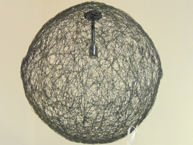 Contemporary Modern Woven Wire Chandelier - 2