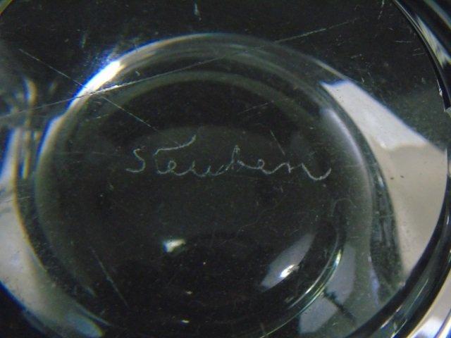 Vintage Steuben Art Glass Figural Candy Bowl - 4