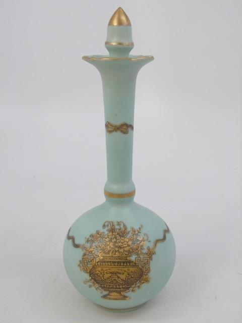 Antique Porcelain Ladies Four Piece Vanity Set - 2