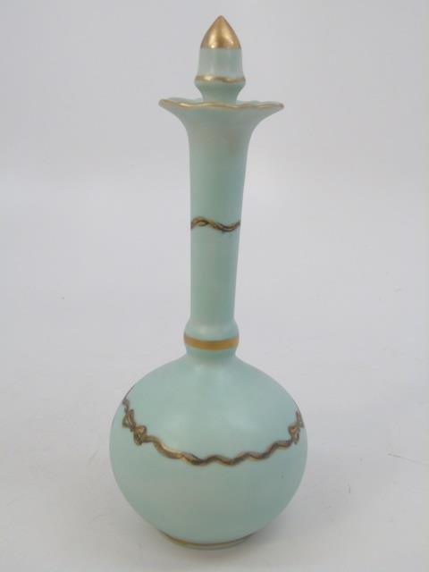 Antique Porcelain Ladies Four Piece Vanity Set - 3