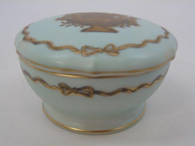 Antique Porcelain Ladies Four Piece Vanity Set - 4