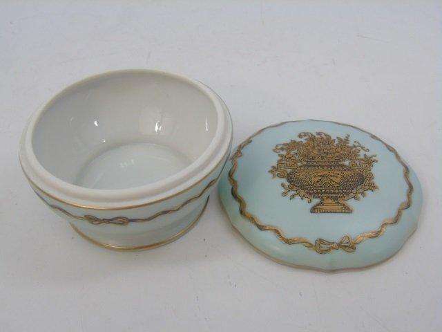 Antique Porcelain Ladies Four Piece Vanity Set - 5