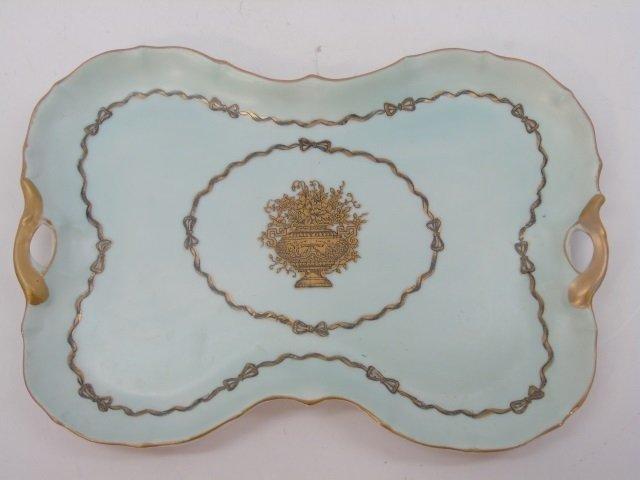 Antique Porcelain Ladies Four Piece Vanity Set - 7