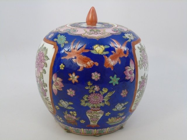 Chinese Hand Painted Porcelain Ginger Jar - 2