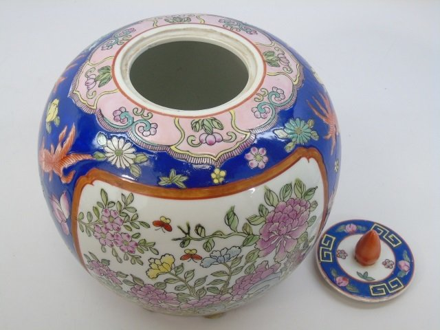 Chinese Hand Painted Porcelain Ginger Jar - 3