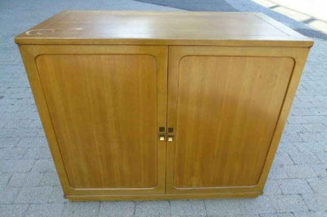 Mid Century Modern Storage Console w/ Pull Outs