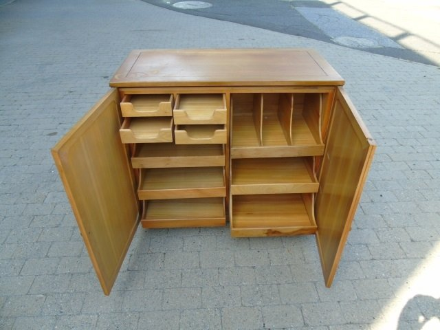 Mid Century Modern Storage Console w/ Pull Outs - 2