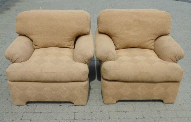 Pair Contemporary Traditional Armchairs