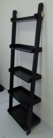 Contemporary Modern Black Painted Bookcase - 2