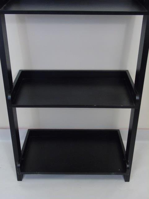 Contemporary Modern Black Painted Bookcase - 3