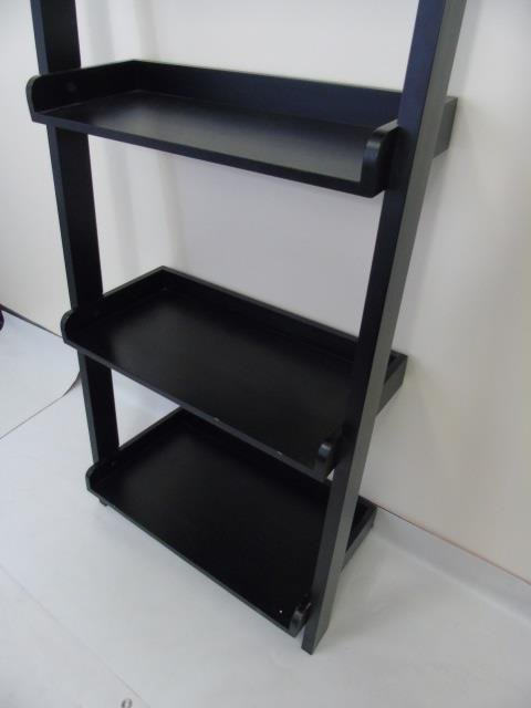 Contemporary Modern Black Painted Bookcase - 5