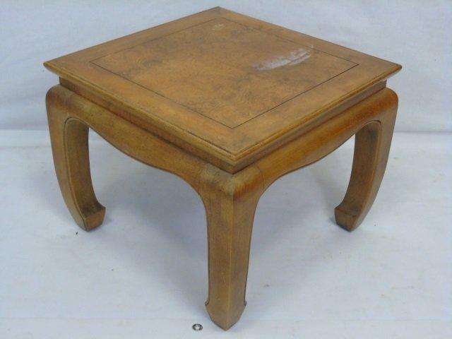 Vintage Asian Burl Wood Carved End Table