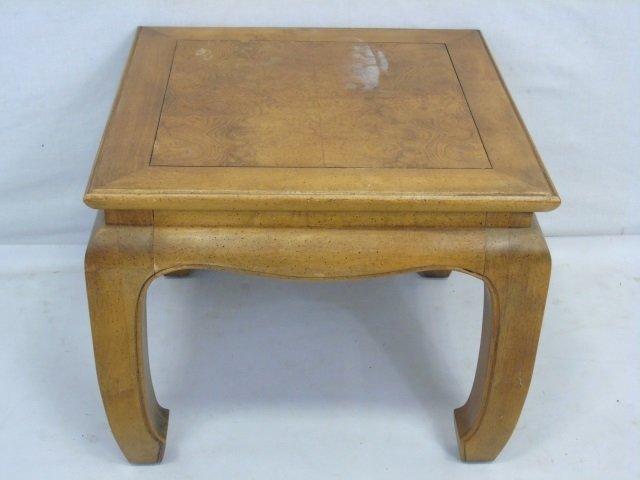 Vintage Asian Burl Wood Carved End Table - 2