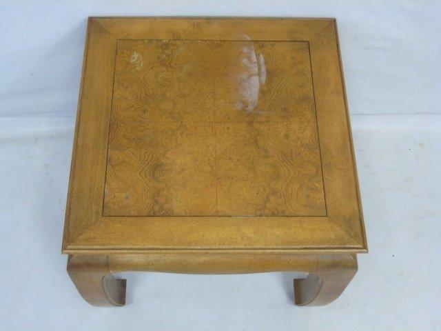 Vintage Asian Burl Wood Carved End Table - 3
