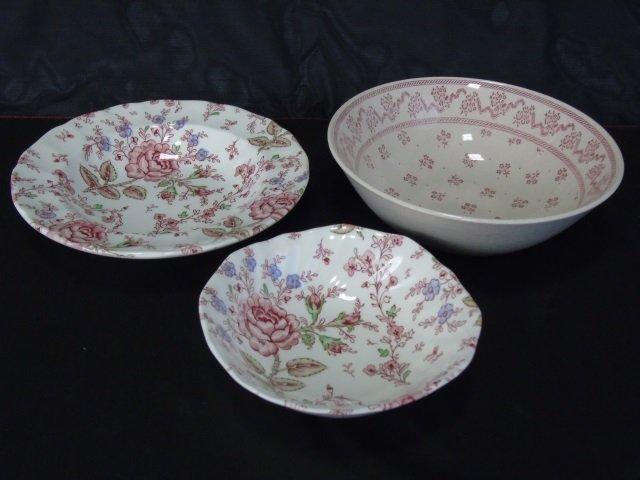Large Service Johnson Bros. Rose Chintz Porcelain - 3