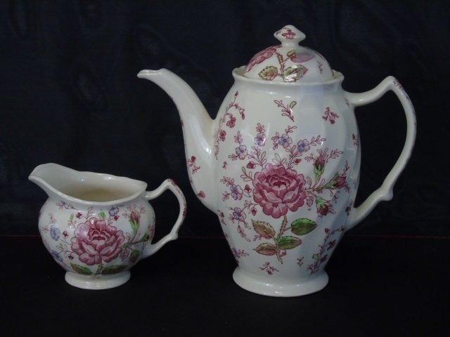 Large Service Johnson Bros. Rose Chintz Porcelain - 4