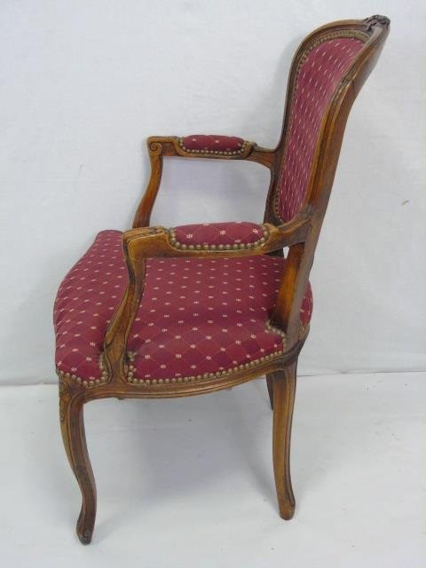 Carved French Style Occasional Armchair - 2