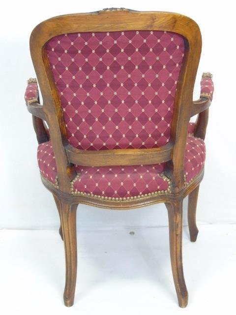 Carved French Style Occasional Armchair - 3