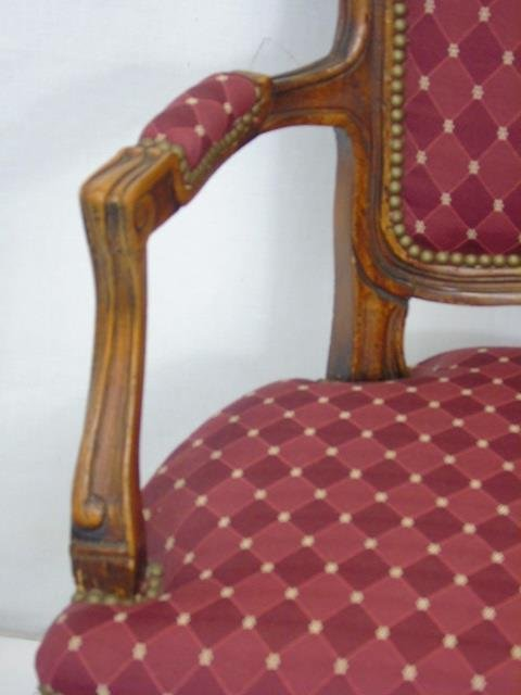 Carved French Style Occasional Armchair - 5