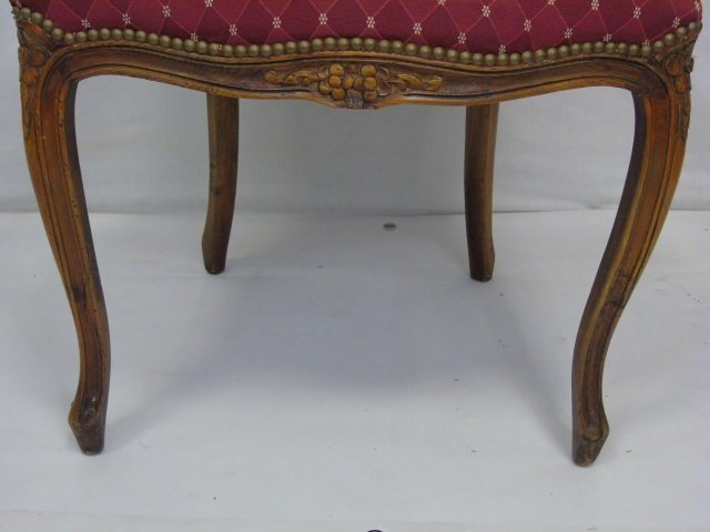 Carved French Style Occasional Armchair - 6
