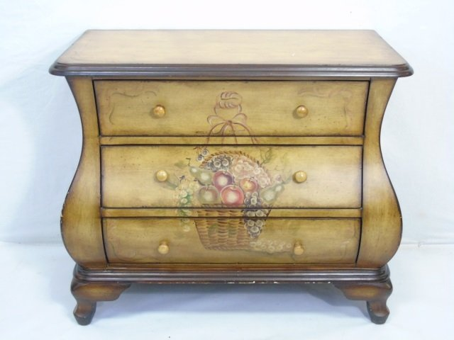 Contemporary Traditional Bombe Chest of Drawers