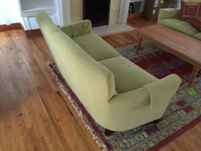 Contemporary Modern Curved Arm Sofa / Couch - 4