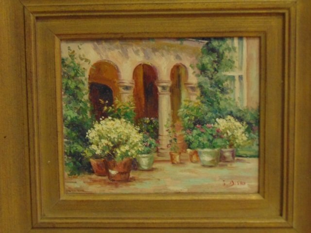 J. Misso - Painting of an Archway w Flowers - 3