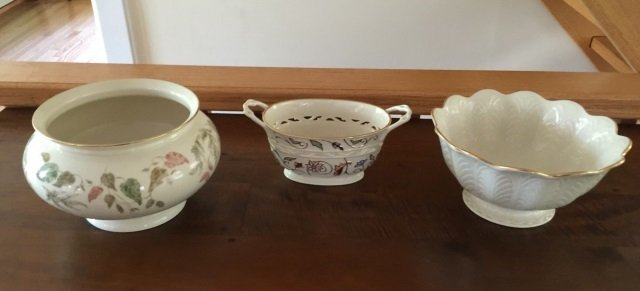 3 Large Serving Porcelain Serving Items by Lenox