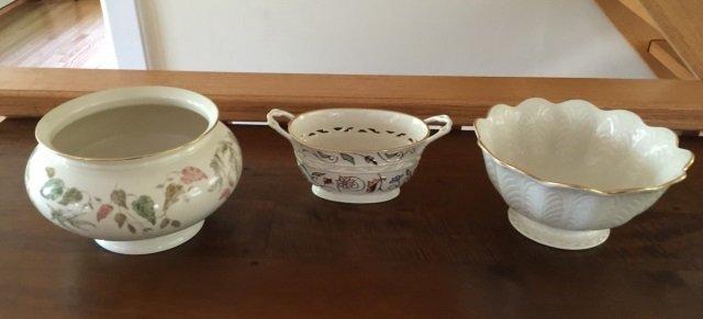3 Large Serving Porcelain Serving Items by Lenox