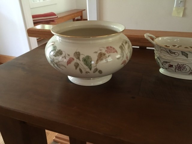 3 Large Serving Porcelain Serving Items by Lenox - 4
