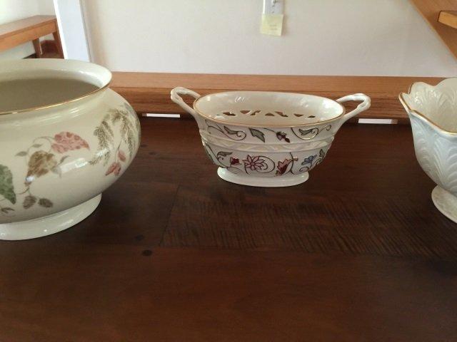 3 Large Serving Porcelain Serving Items by Lenox - 5