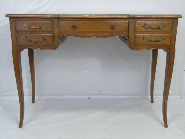 Traditional Ladies Vanity Desk w Cabriole Legs - 3