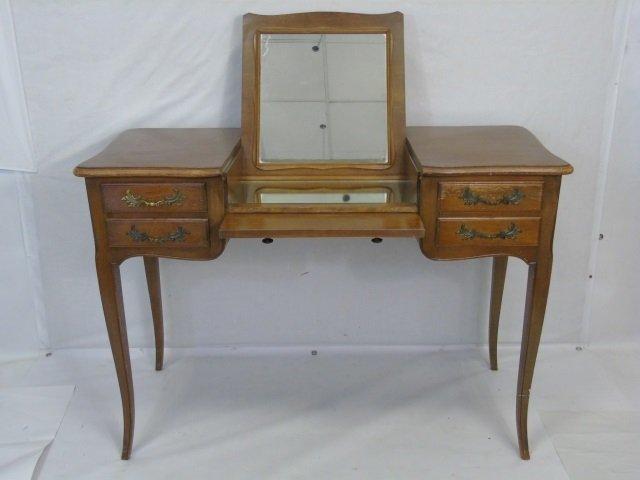 Traditional Ladies Vanity Desk w Cabriole Legs - 4