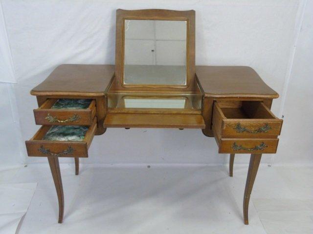 Traditional Ladies Vanity Desk w Cabriole Legs - 5