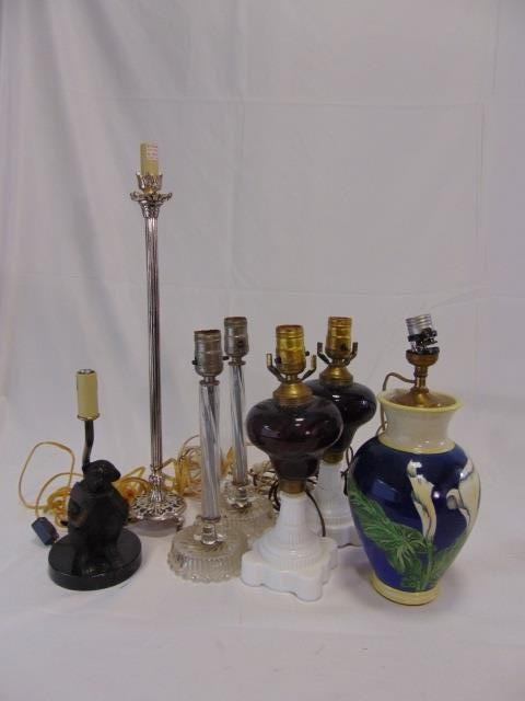 Group Lot of Assorted Vintage Table Lamps