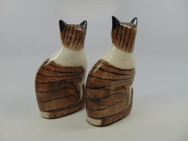 Vintage Porcelain Cat Statues Staffordshire Style - 2