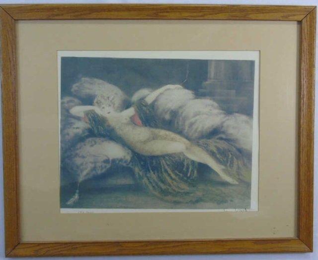 Louis Icart - Signed & Framed Art Nouveau Print