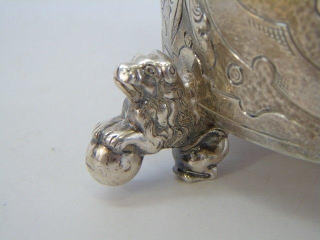Antique Danish Frederick IV Figural Silver Tankard - 10