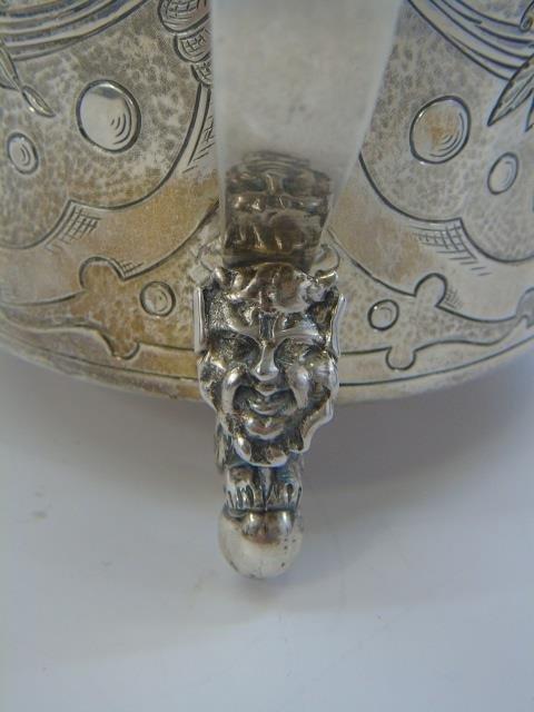 Antique Danish Frederick IV Figural Silver Tankard - 8