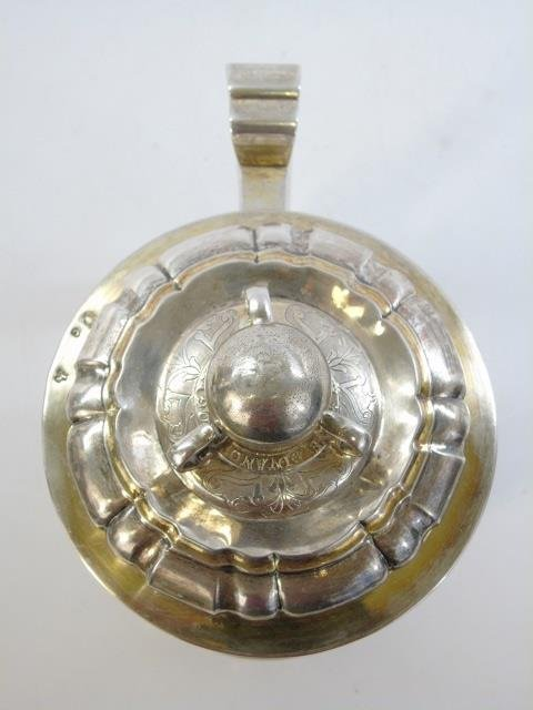 Large Antique German Silver Coin Mounted Tankard - 3