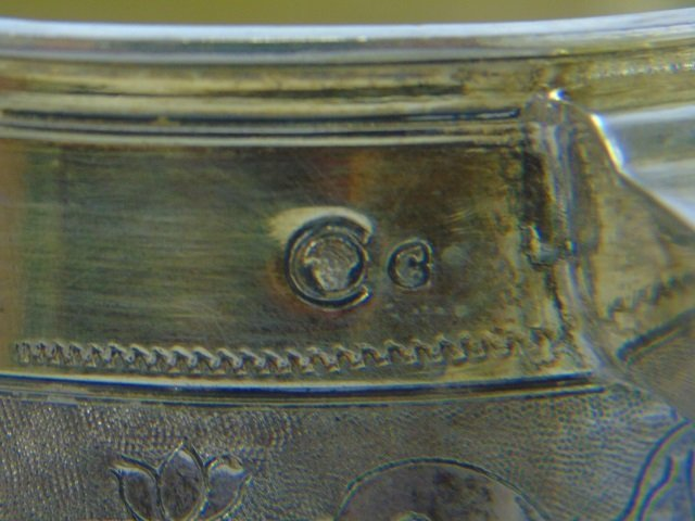 Large Antique German Silver Coin Mounted Tankard - 9