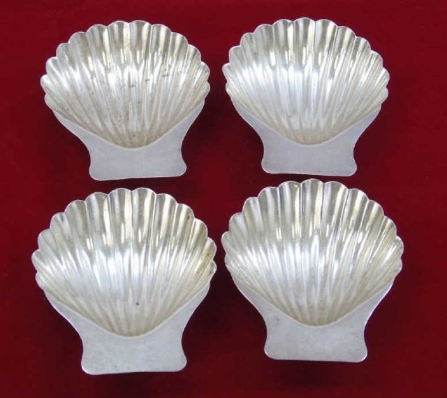 Set 4 Matched Taxco Eagle Sterling Silver Shells