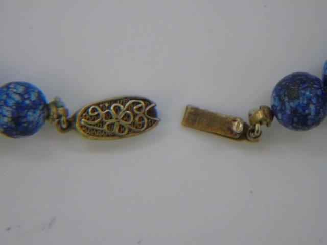 Estate Chinese Hardstone & Cloisonne Necklaces - 7
