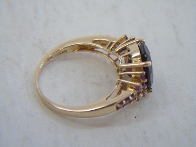 Estate 10k Yellow Gold & Tourmaline Cocktail Ring - 4