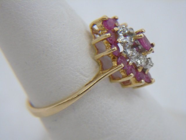 Two Vintage 14kt Yellow Gold Ruby & Diamond Rings - 3