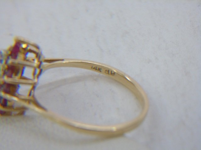 Two Vintage 14kt Yellow Gold Ruby & Diamond Rings - 5