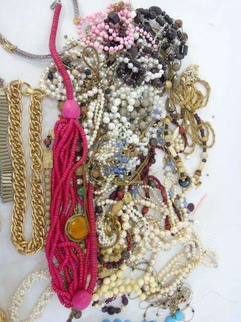 Large Group Lot of Vintage Costume Jewelry Items - 3