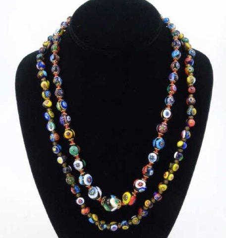 Vintage Italian Murano Glass Necklaces w Earrings