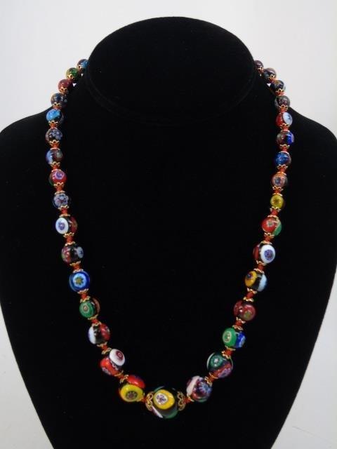 Vintage Italian Murano Glass Necklaces w Earrings - 4