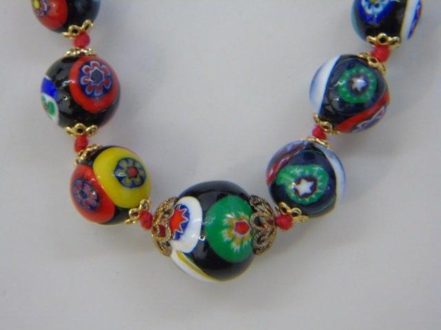 Vintage Italian Murano Glass Necklaces w Earrings - 5